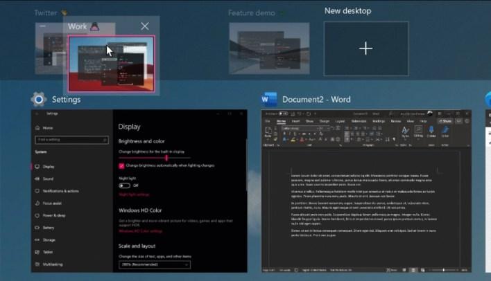 Escritorios virtuales de Windows 10 21H2 Sun Valley