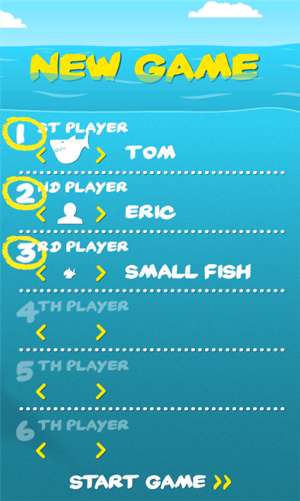 Windows Phone Vicious Fishes Board Game