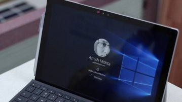 Windows Hello Surface Pro 4