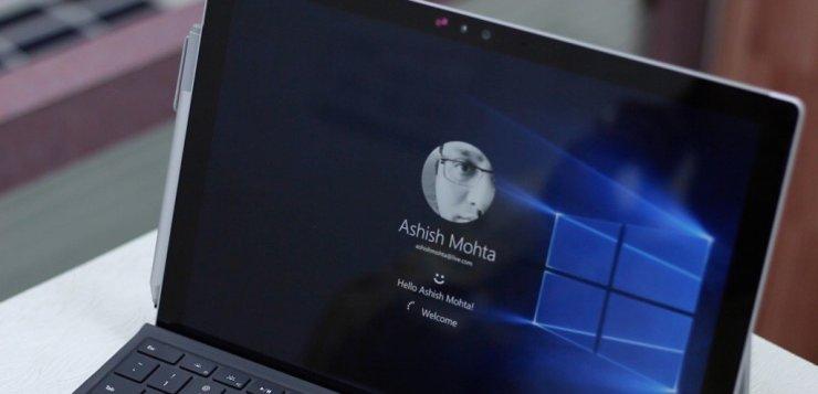 Windows Hello Surface Pro 4