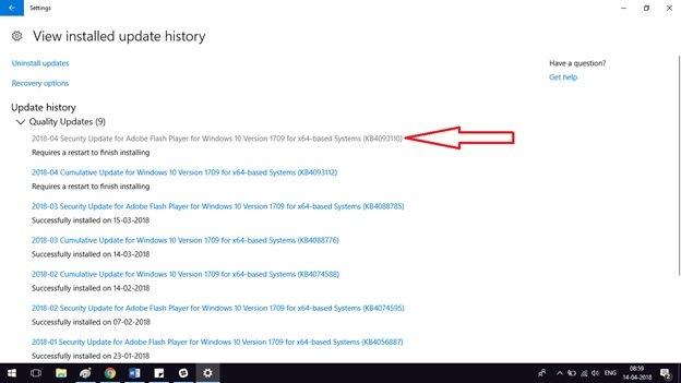 Driver updates in Windows 10