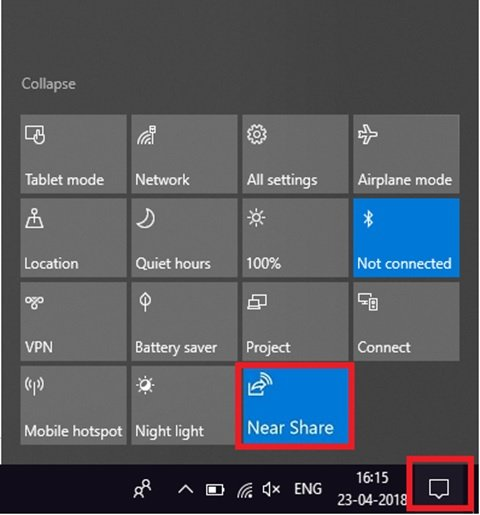 Near Share on Windows 10