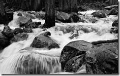 Rushing water, Yosemite, California, U.S.