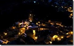 Old Portuguese village by night