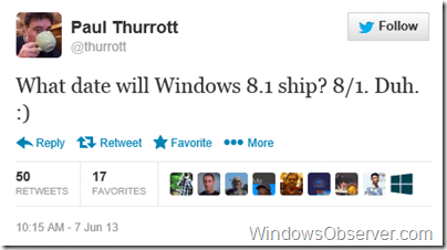 paulthurrotttweetwindowsbluerelease