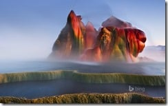 Fly Geyser near Black Rock Desert , Nevada