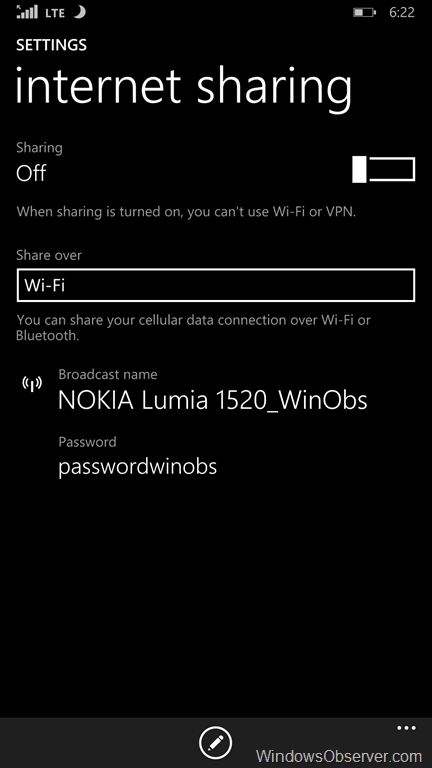 Updated: Tethering via Bluetooth on Windows Phone is not a