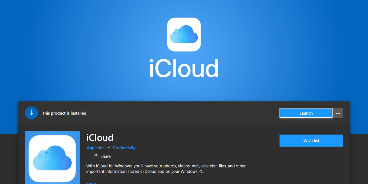 Hands On: Windows 10 Apple iCloud App and Service