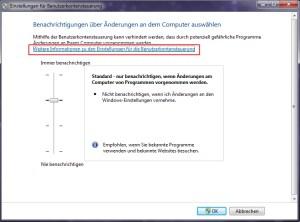 Benutzerkontensteuerung konfigurieren Windows 7 1
