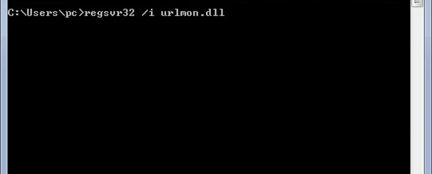 regsvr32-i-urlmon-dll
