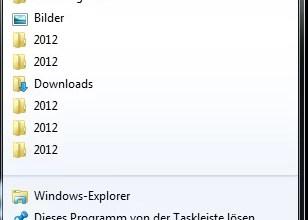Zuletzt verwendete Dokumente nicht anzeigen Windows 7 0
