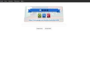 Google Doodle mit Basketball 1