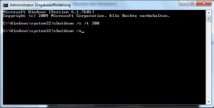 Windows 7 per CMD Befehl zeitgesteuert herunterfahren 3
