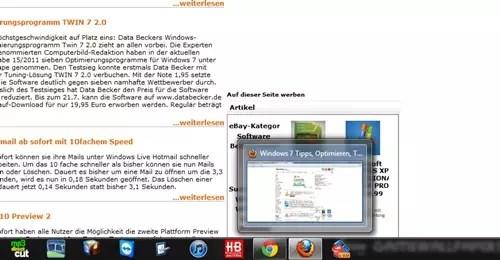 Windows 7 Größe des Vorschaufenster ändern 0