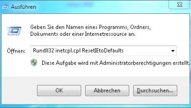 Internet Explorer Einstellungen Zurücksetzen 0