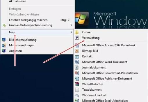 Explorer auf dem Desktop anzeigen unter Windows7 0