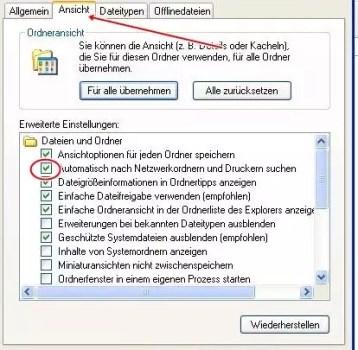 Windows Explorer Start beschleunigen 0