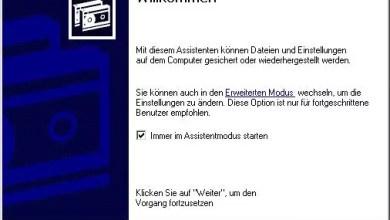 Backup erstellen mit Windows XP 0