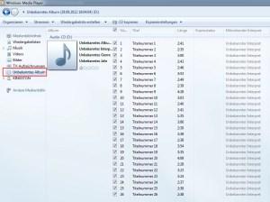 Audio CD in MP3 umwandeln mit Windows Media Player 1