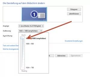 Bildschirmauflösung-einstellung