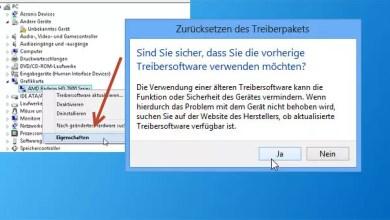 Photo of Windows 8 – einen älteren Treiber wiederverwenden