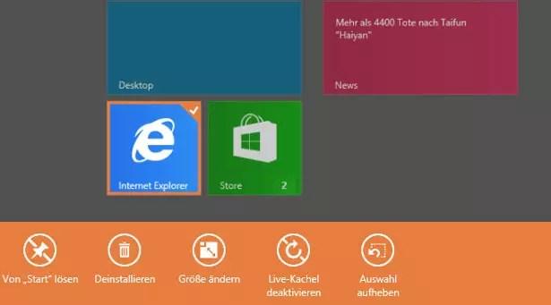 Windows 8/8.1 Deinstallieren von Apps deaktivieren 0