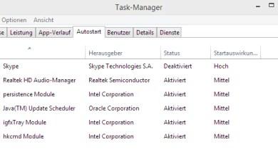 Windows 8.1 Autostart Programme deaktivieren 0