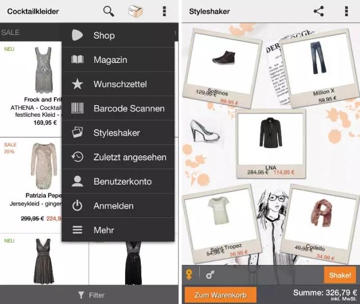 Die App wartet mit Zusatzfunktionen wie dem Styleshaker auf.