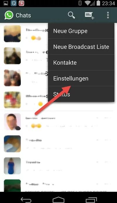 Android-einstellung