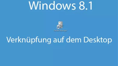 windows 8.1 geraetemanager als verknuepfung auf dem desktop