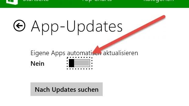 Automatische App-Updates deaktivieren bei Windows 8.1 0