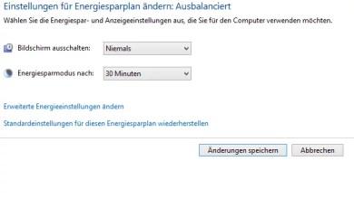Automatische Abschaltung des Monitors verhindern bei Windows 8.1 0