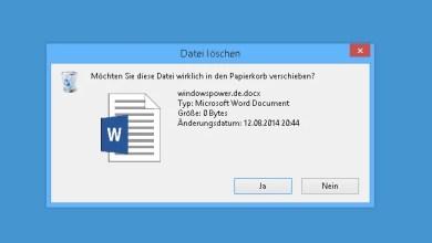 Photo of Bestätigen von Löschen wieder aktivieren bei Windows 8.1