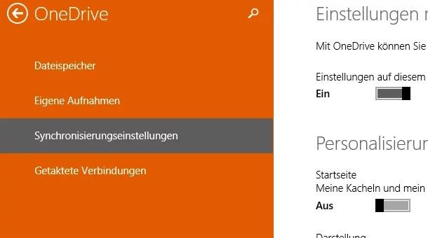 Windows 8.1 – Einstellungen mit OneDrive synchronisieren 0