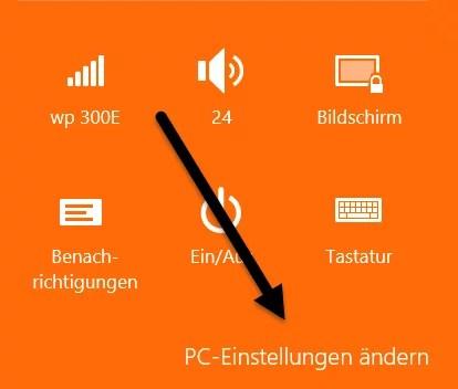 pc-einstellungen-ändern Bluetooth aktivieren windows 8.1 Bluetooth aktivieren bei Windows 8.1 pc einstellungen aendern