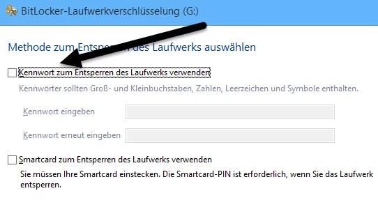 BitLocker laufwerkverschlüsselung