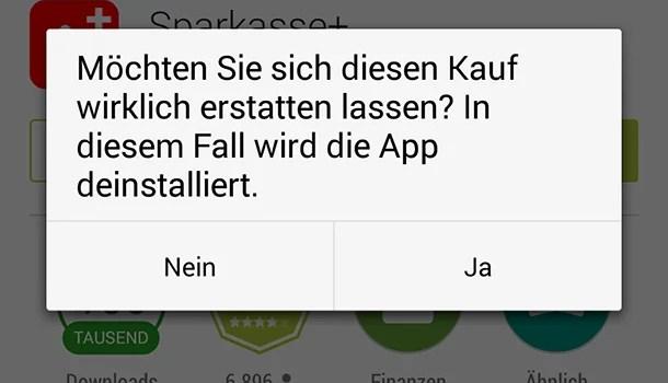 Android – App-Käufe stornieren 0