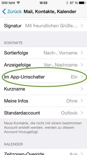 iphone im app umschalter