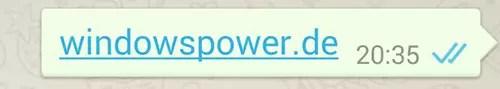 WhatsApp Blau haken
