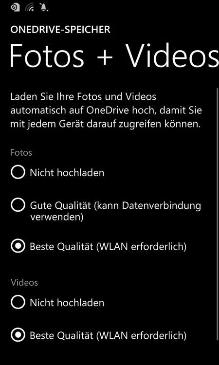 windows phone sicherung fotos video