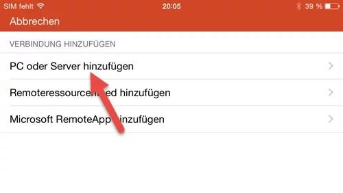 Microsoft Remote Desktop App- iPhone pc oder Server