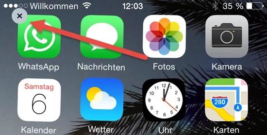 WhatsApp Deinstallieren entfernen iPhone