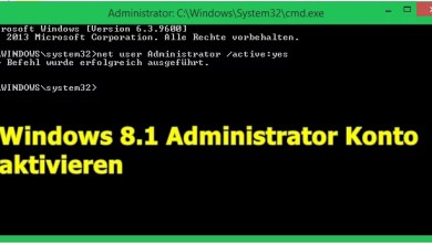 Windows 8.1 Administrator Konto aktivieren 0
