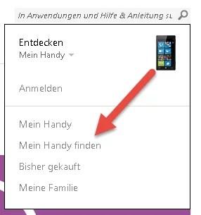 Windows Phone wiederfinden - mein Handy finden