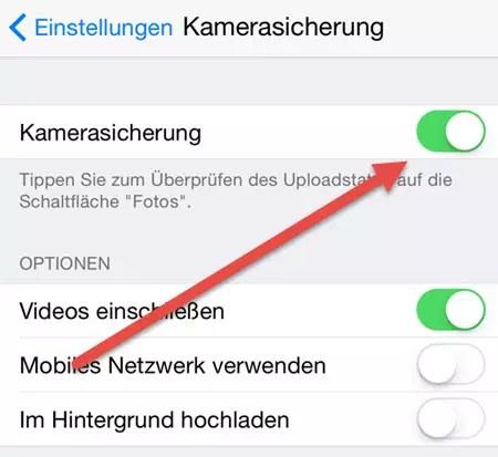 iphone kamerasicherung aktivieren