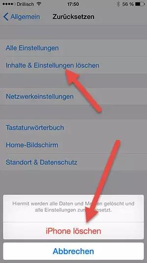 iPhone-loeschen