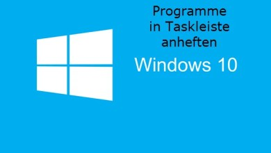 Photo of Programme in Taskleiste anheften unter Windows 10