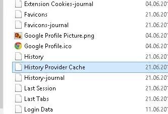 History Provider Cache
