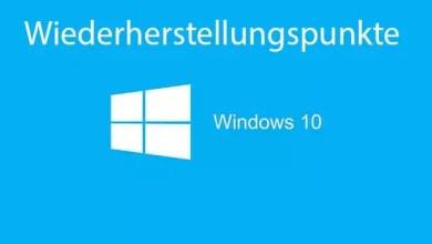 Photo of Wiederherstellungspunkte aktivieren deaktivieren bei Windows 10