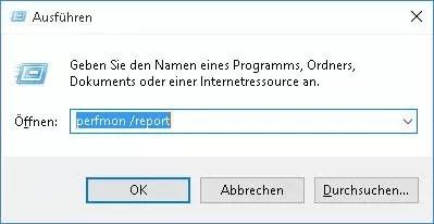 perfmon report